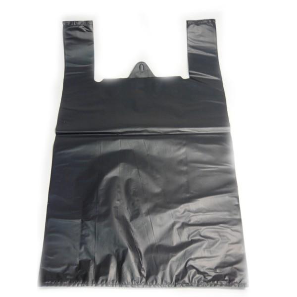 Пакет «Майка» 24+12х44 мм (10 мкм) ПНД чёрная
