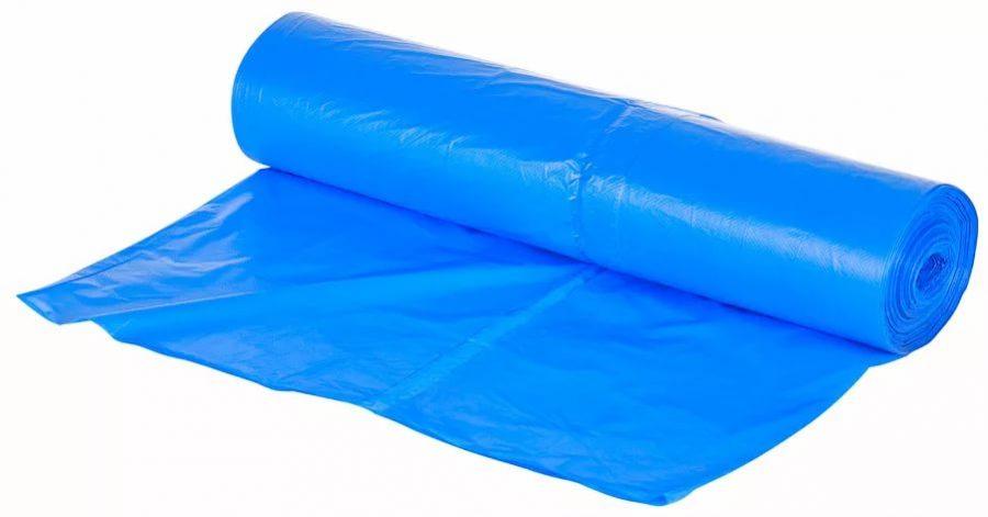 Пакеты для мусора ПНД 120л голубые