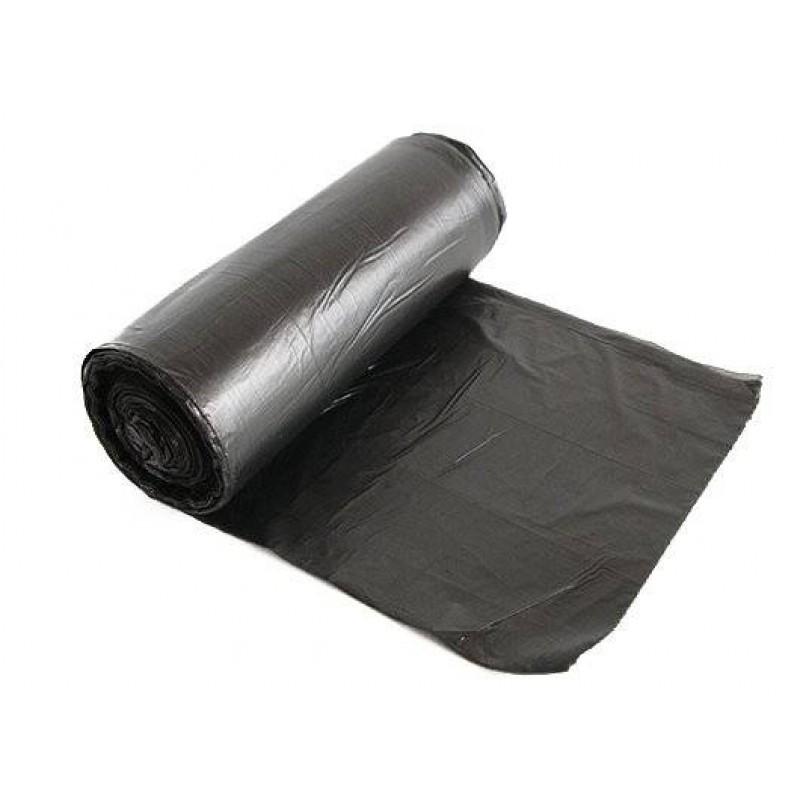 Пакеты чёрные ПНД 30 л для мусора
