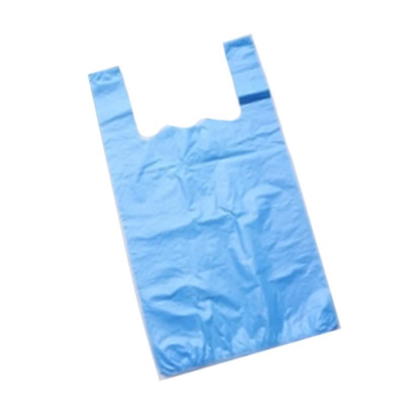 Пакет «Майка» 30+16х60 мм (15 мкм) ПНД голубая