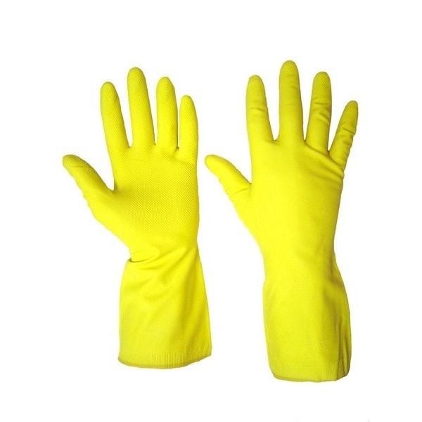 Перчатки резиновые хозяйственные (М, L, XL) 12 пар