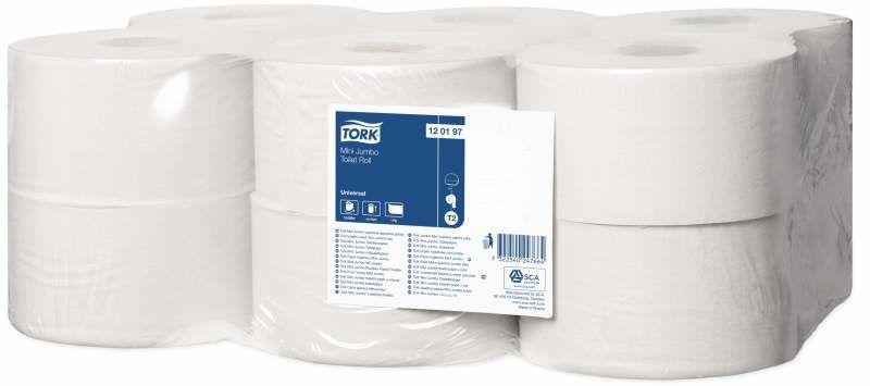 Туалетная бумага Tork Universal Т2 120197 1-слойная белая 200 метров