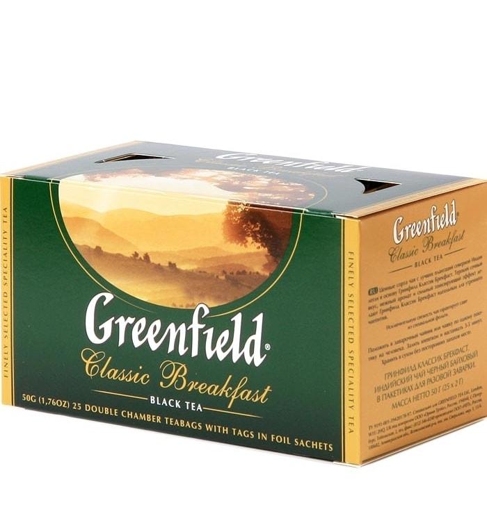 chaj greenfield classic breakfast klassik brekfast chernyj 25 paketikov min