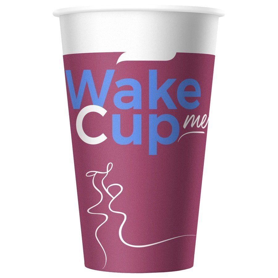 Стакан бумажный одноразовый WakeMeCup 300 мл