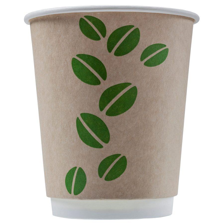 Стакан бумажный одноразовый двухслойный Coffee Bean Craft 250 мл