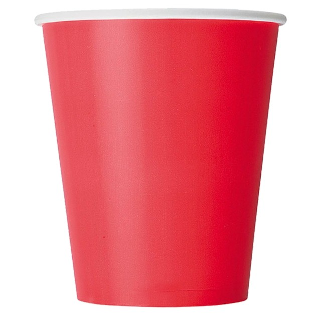 Одноразовый бумажный стакан Red 250 мл