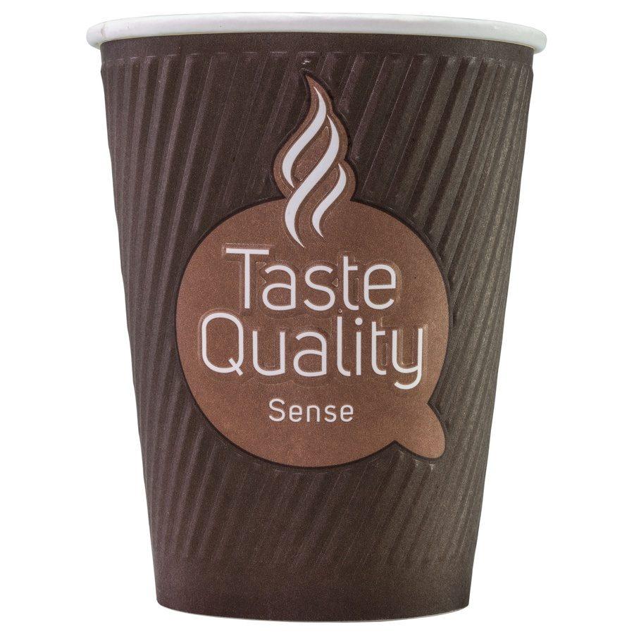 Стакан бумажный одноразовый двухслойный с конгревом Taste Quality Sense 300 мл