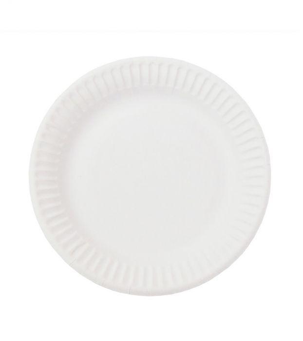 Тарелка белая мелованная d=165 мм