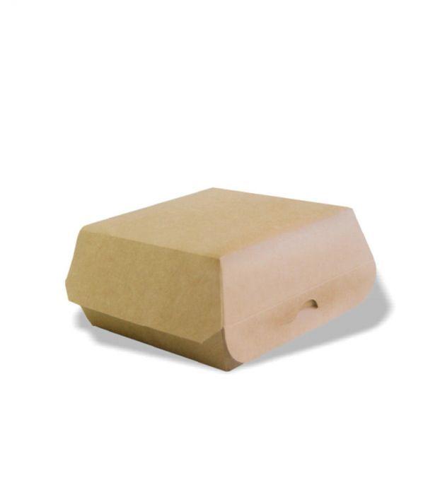 Коробка для гамбургера Крафт 120*120*70 мм