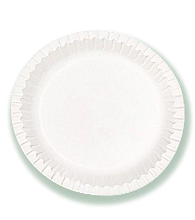 Тарелка белая мелованная d=230 мм TRIPLEX