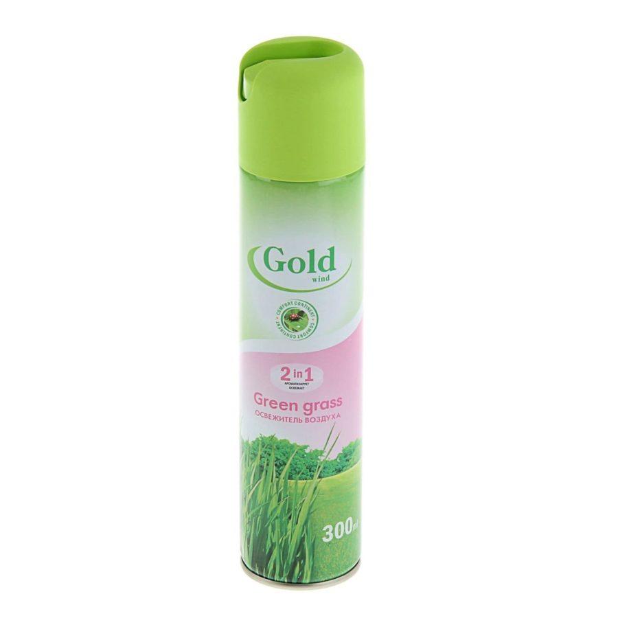 02Освежитель воздуха Gold mint Зеленый Коктейль 300 мл min