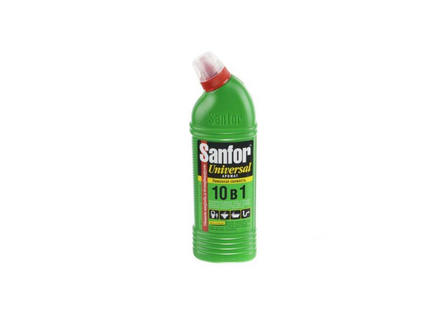 513 sredstvo gel dlya vann i tualetov 750 ml 10v1 sanfor universal limonnaya svezhest 1 sht up 15 sht kor