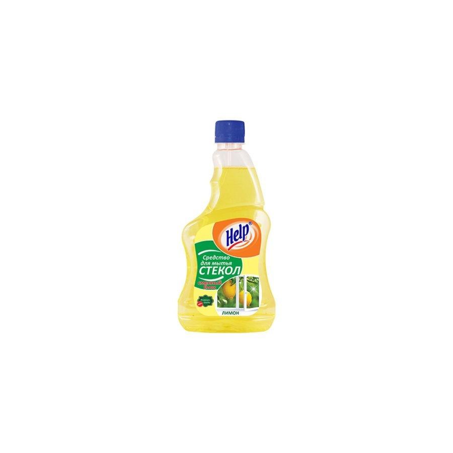 615Sredstvo dlya mytya stekol Help Limon smennyj blok 500 ml